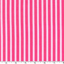 Nine Yard-Clown Stripe Girl Valentines Pink Michael Miller Fabric CX3584-GIRL-D