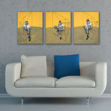 FRAMED Canvas Stretched Lot of 3 Three studies of Lucian Freud by Francis Bacon