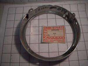 1968-71 F3 F4 F5 F7 F8 F81M KAWASAKI HEADLIGHT RING RIM NOS (2) 23006-014