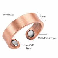 Therapy Ring Arthritis Magnetic Copper Pain Relief Healing Cuff Unisex Rose Gold