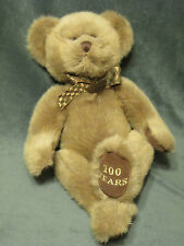 "100 Year Anniversary Splendor Bear from Russ 14"" brown tie #73296"