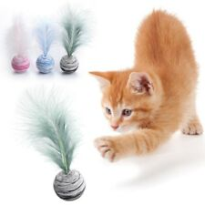 1Pcs Cat toys ball with feather interactive cat toys chewy best toys for cats