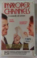 Improper Channels VHS 1981 Comedy Eric Till Alan Arkin Satellite Video Soft Case