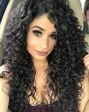 Hot Women Synthetic Long Curly Wig Black Wig Afro Curly Wig African American Wig