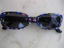 Kinder Kids Sonnenbrille Kunststoff Rahmen Schwarz mit Bunt Breite 12 cm