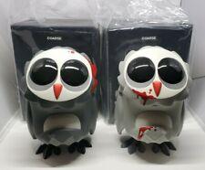 "Coarsetoys 7"" Omen Set Bloody Owls Grim & Grudge Coarse Vinyl Art Toy Lot 2014"