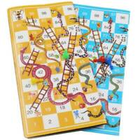 Giant Ludo and Giant Snakes & Ladders Game Traditional Family Indoor Games Gift