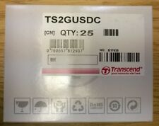 TRANSCEND GENUINE OEM TS2GUSDC BOX LOT OF 25 2GB Micro SD Cards MicroSD 50GB NEW