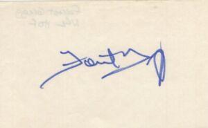 Forrest Gregg - NFL Football Hall of Fame - Signed 3x5 Card