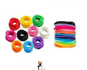 12 x GUMMY BRACELETS Wristbands Jelly Rubber Bangles Shag Bands Friendship UK