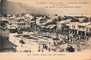 Haiti postcard Port-au-Prince Le Quartier de Square de l'Intendance