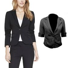 Vancy Vintage Womens Ladies Jacket Fitted Top Summer Indie Cardigans Blazer Size Black 12
