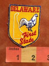 Vtg Delaware Patch Emblem FIRST STATE ~ Blue Hen Chicken 73A3