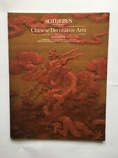 Sotheby's London - Chinese Decorative Arts - 1st and 2nd November 1984