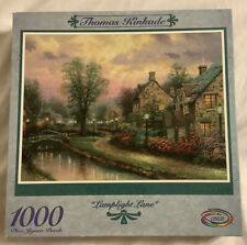 Thomas Kinkade Lamplighter Lane 1000 Piece Jigsaw Puzzle 27 X 20 CEACO New