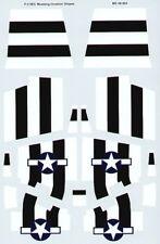 MICROSCALE decalcomanie 1/48 P-51B/C MUSTANG bianco e Nero Invasione STRISCE #