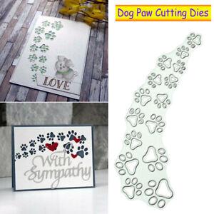 Dog Paw Print Metal Cutting Dies Stencil Scrapbooking Embossing Paper Card Craft