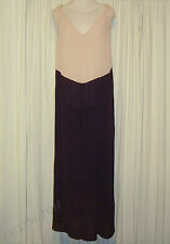 BEAUTIFUL ANNA & BOY NUDE PINK&PURPLE MAXI DRESS size 2 AUS 14/US 8