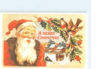 Santa Claus A Merry Christmas Old Postcard