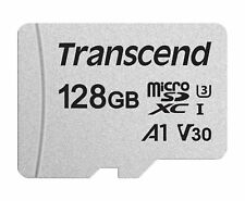 Transcend 128 GB Micro SD 300S Class 10 U3 Flash Memory Card New tbs