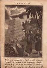 1831 engraving .scripture history - for all tribes their language change !