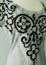 Roar Ladies Stitched Accents studded Short Sleeve -Shirt M purples