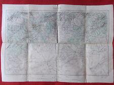 CARTE GEOGRAPHIQUE AFRIQUE ALGERIE SAIDA FORMAT 38 x 53 cm