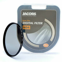 Jacobs 72mm ND4 Super slim Neutral Density filter for nikon canon sony   NEW PRO