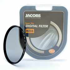 JACOBS ND4 SUPER SOTTILE Neutral Density Filter 72mm per Nikon Canon Sony Nuovi PRO