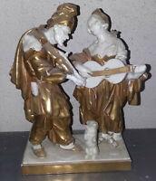 porcellana antica capodimonte ginori bianca e oro
