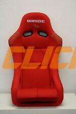 BRIDE VIOS RED CLOTH FRP BUCKET SINGLE SEAT JDM MOMO ZETA ZIEG RECARO
