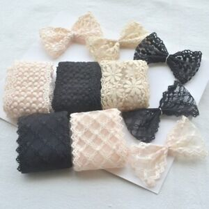 1 Meter Mesh Embroidery Flower Lace Trim Ribbon DIY Craft Bow Hair Accessories