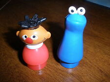 Vintage Fisher Price Little People Sesame Street Ernie and Cookie Monster