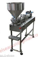 Semi-auto stand type bottle filler,pneumatic paste filling machine 100-1200ml