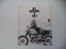 advertising Pubblicità 1971 MOTO SUZUKI T 500 TITAN
