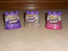 NEW, SET OF 3 KINETIC SAND, 5OZ CONTAINER, PINK, PURPLE & BROWN