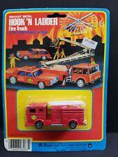 1981 Imperial Toy Hook 'n Ladder Fire Truck w/Free Wheel Action Diecast Metal HK