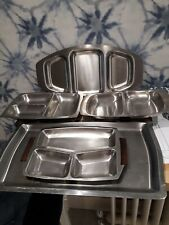 5 x Stainless Steel serving trays/dishes Old Hall etc
