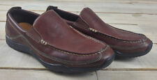 COLE HAAN Mens NikeAir C08038 Brown Leather Slip On Loafers Size 7.5 M