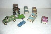 Vintage Lot of 8 Tootsie Toy Metal Cars  S-43