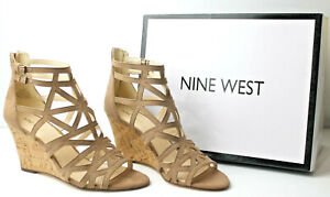 Nine West NW 7 Canyon Wedges Natural 8M NEW