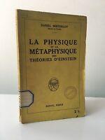 Daniel Berthelot La Fisica E Metafisica Delle Teorie Einstein 1922
