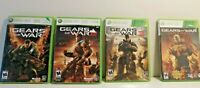 Gears of War Xbox 360 Games Cleaned and Tested! 1 + 2 + 3 + Judgement