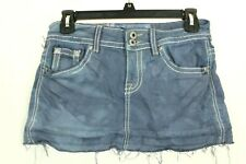 Miss Me By Claudio Milano Tie Dye Mini Skirt Blue Cut Off Stretch Size S