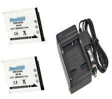 TWO 2 Batteries + Charger for Casio EX-Z80 EX-Z80A EX-Z80BE EX-Z80BK EX-Z80GN