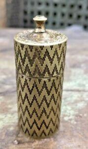 antique BRASS Safety BOX 50 Patent Vesta Lights ornate antique match BOX