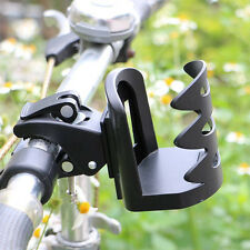 Black Motorcycle Bike Outdoor Quick Handlebar Mount Bottle Cup Holder Stand Clip