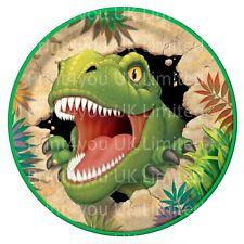 24 glassa DECORAZIONI PER TORTA DECORAZIONI Dinosauro T-Rex decorazioni per aggiuntivi per Set