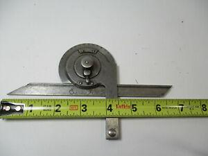 """STARRETT # 362 Machinist Precision Universal Bevel Protractor w/ 7"""" Blade, GC"""