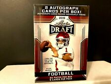 Factory Sealed 2019 Leaf Draft Auto Football 20 Pack Blaster Box 2 Autographs